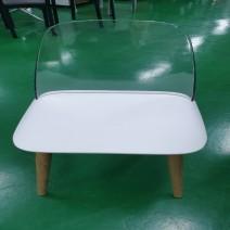 인테리어 의자/등받이 투명 - R061760