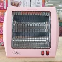 2단 석영관 히터/ 핑크
