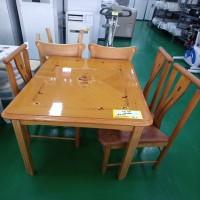 4인 식탁 (의자 3개 포함)