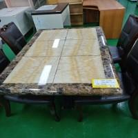 대리석 4인 식탁(의자 4개 포함)