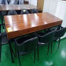 6인 식탁(원목)/수납형/철제다리